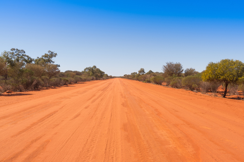Dirt road outside of Bourke New South Wales