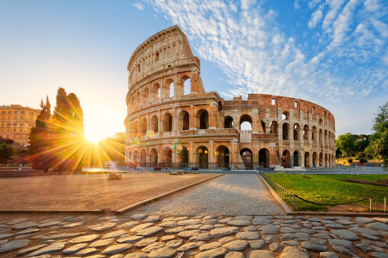 colosseum rome sunrise