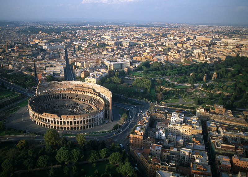 colosseum from the air