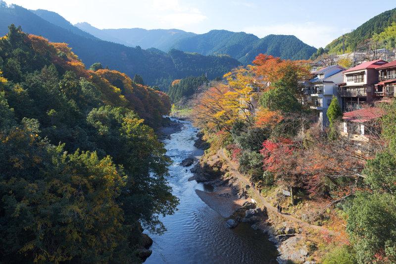 mountain valley in autumn