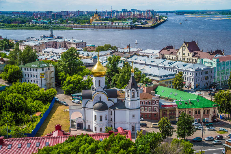 At the meeting of two rivers: Nizhny Novgorod. Russia