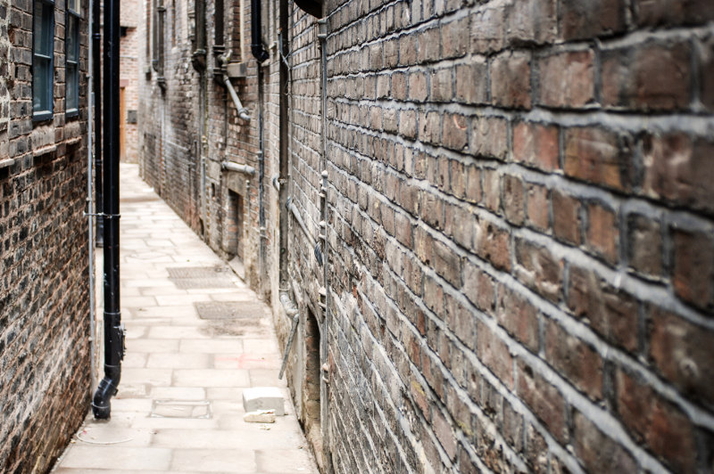 Narrow laneway in Liverpool