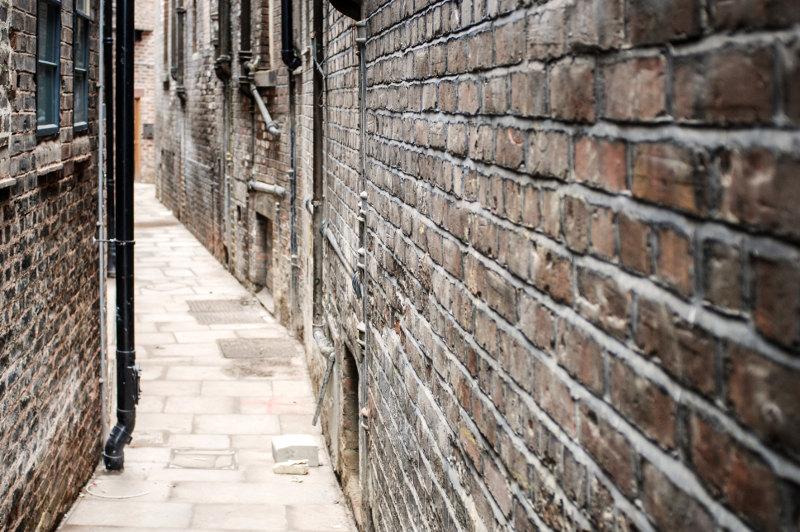 Narrow laneway in Liverpool
