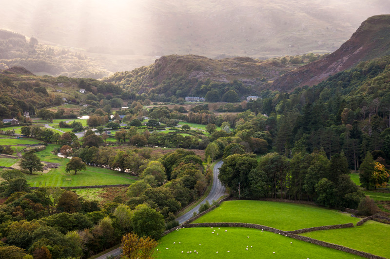 A village near Beddgelert in Snowdonia, North Wales.