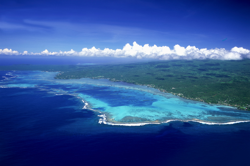 Aerial view of the island of Savai'i
