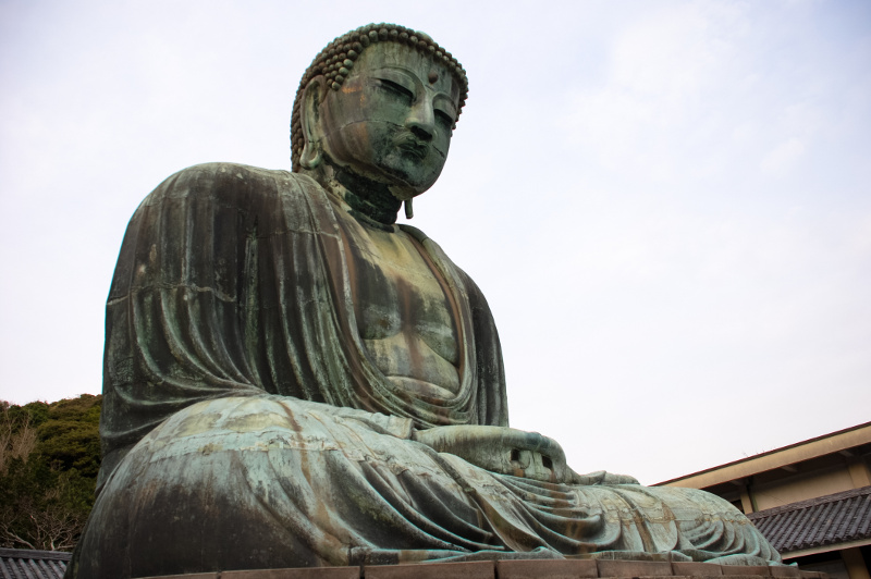 Bronze Buddha statue in Japan