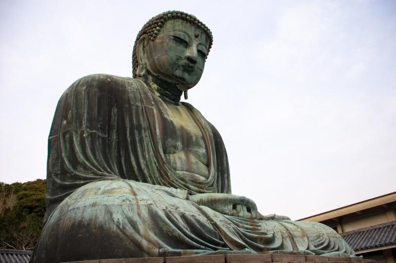 Bronze Buddha statue in Japan