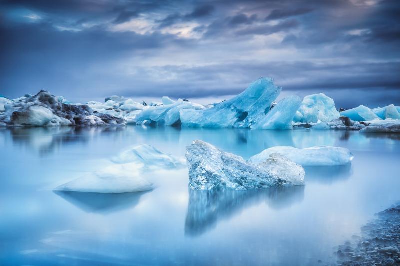 Icebergs in Jokulsarlon Lagoon, Iceland