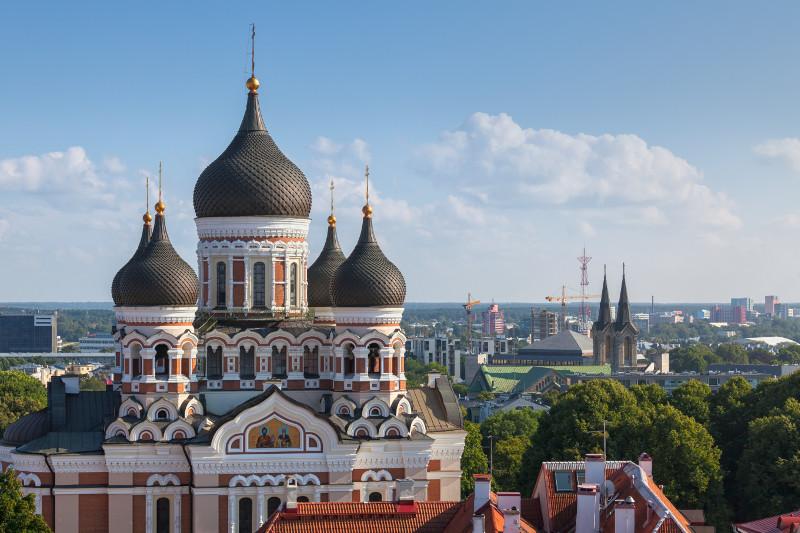 Alexander Nevsky Cathedral in Tallinn, Estonia.