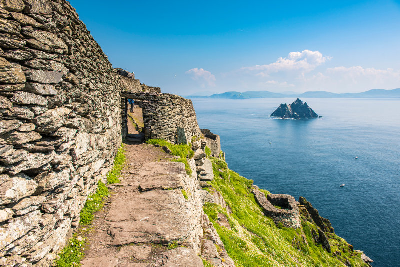 Little Skellig, as seen from Skellig Michael (Great Skellig), west of the Iveragh Peninsula, County Kerry