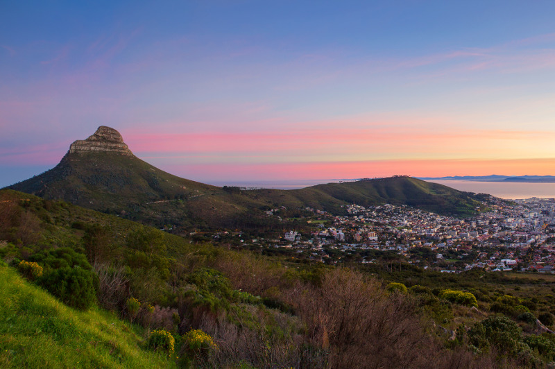 Lion's Head and Signal Hill, Cape Town.
