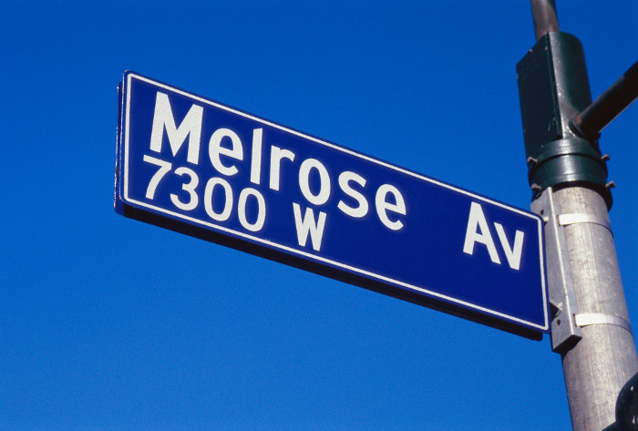 Melrose Avenue Los Angeles was made famous by the drama tv serries
