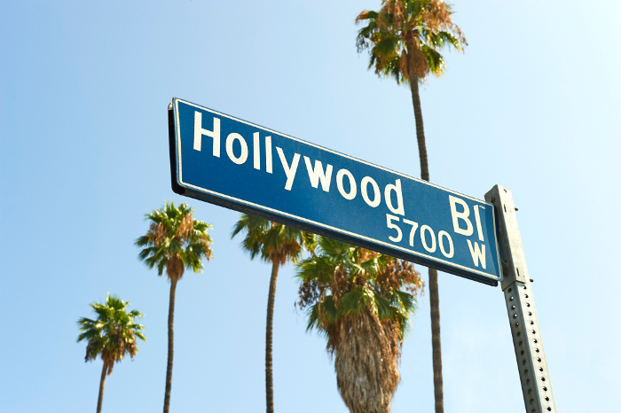 Hollywood Boulevard is home to the famous Hollywood walk of fame