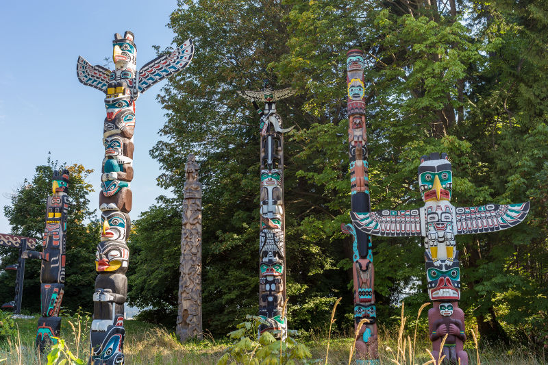Totem poles, Vancouver, Canada