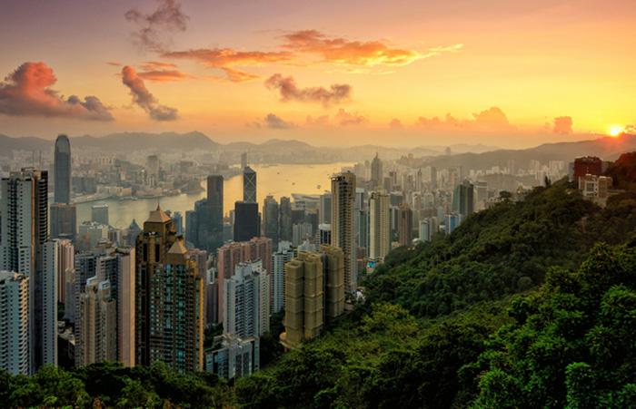 victoria peak hong kong sunrise