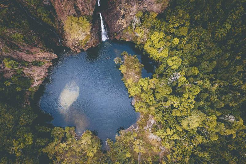 wangi falls litchfield national park aerial