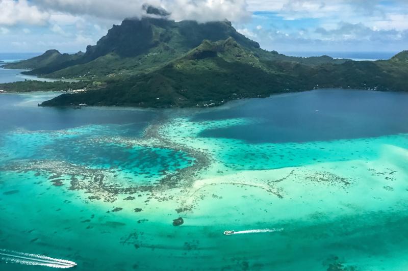 Bora Bora aerial shot