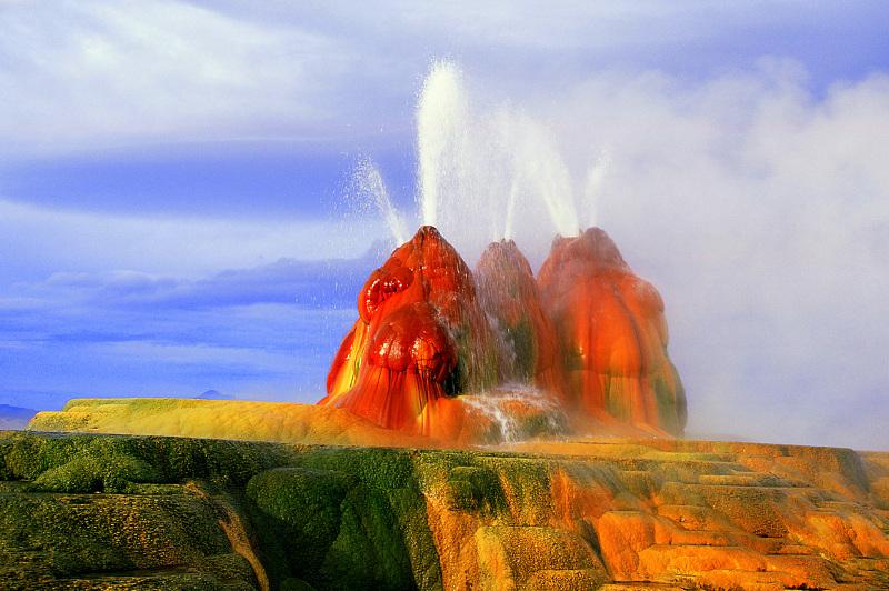 Fly Geyser Nevada USA