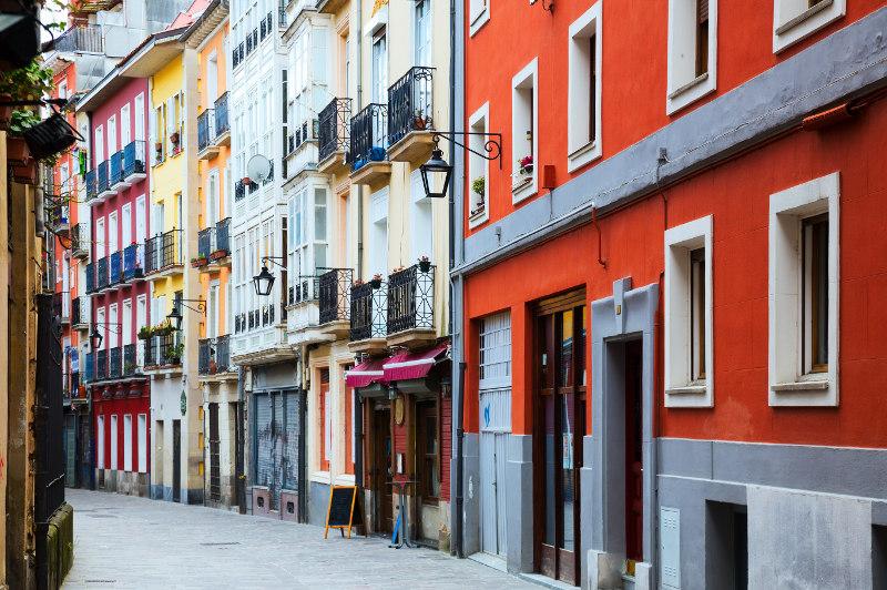 The historic part of Vitoria-Gasteiz, Spain