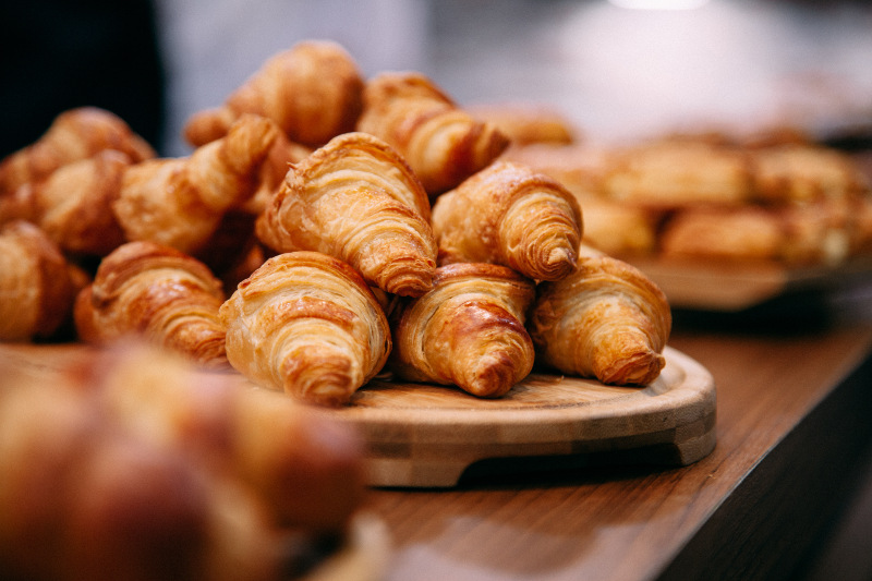 croissants in bakery, Paris, france