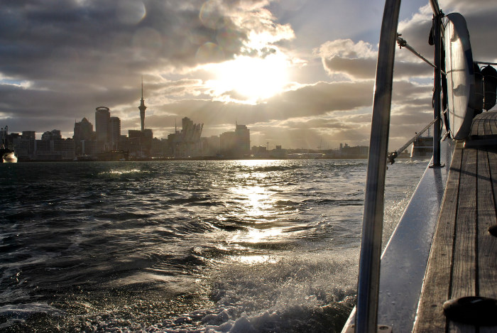 auckland skyline from cruise