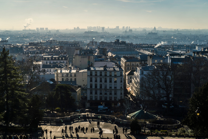 view of Paris rooftops