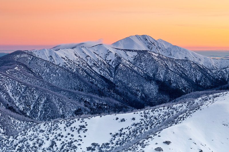 Mount Feathertop, in the Victorian Highlands.