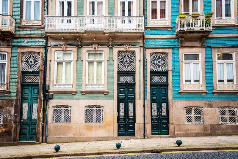 tiled homes in lisbon, portugal