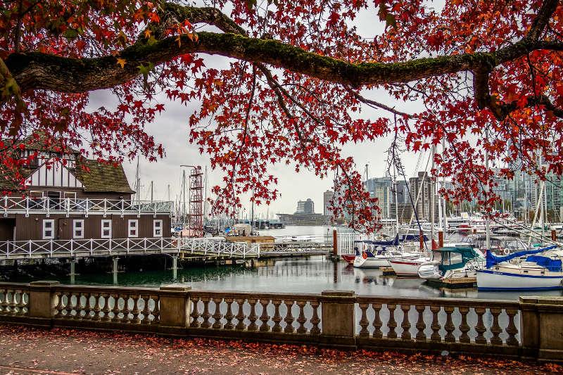 Vancouver marina, Canada