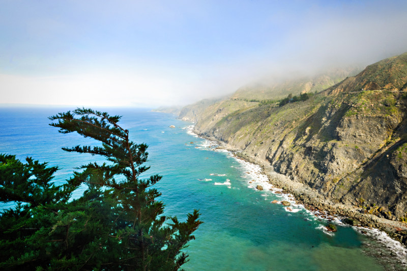 Big Sur coastline at Ragged Point, California.