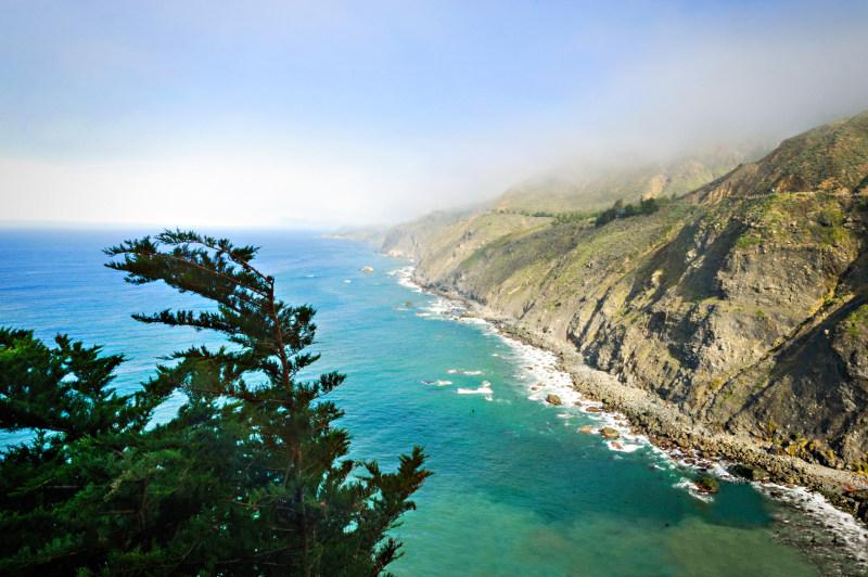 Big Sur coastline at Ragged Point, California.