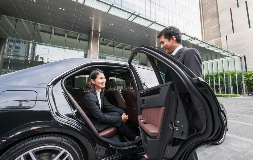 door to door chauffeur service is standard with many business class tickets