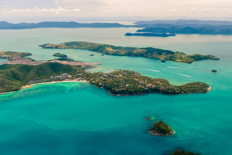 aerial of Hamilton Island, North Queensland