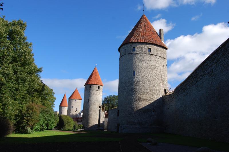 City wall towers, Tallinn, Estonia