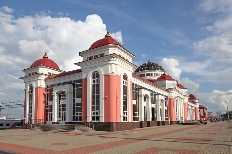 Railway Station in Mordovia Russia