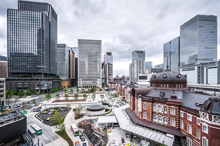 marunouchi, around tokyo station  is Tokyo's business district