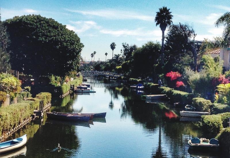 man-made canals of venice beach, california