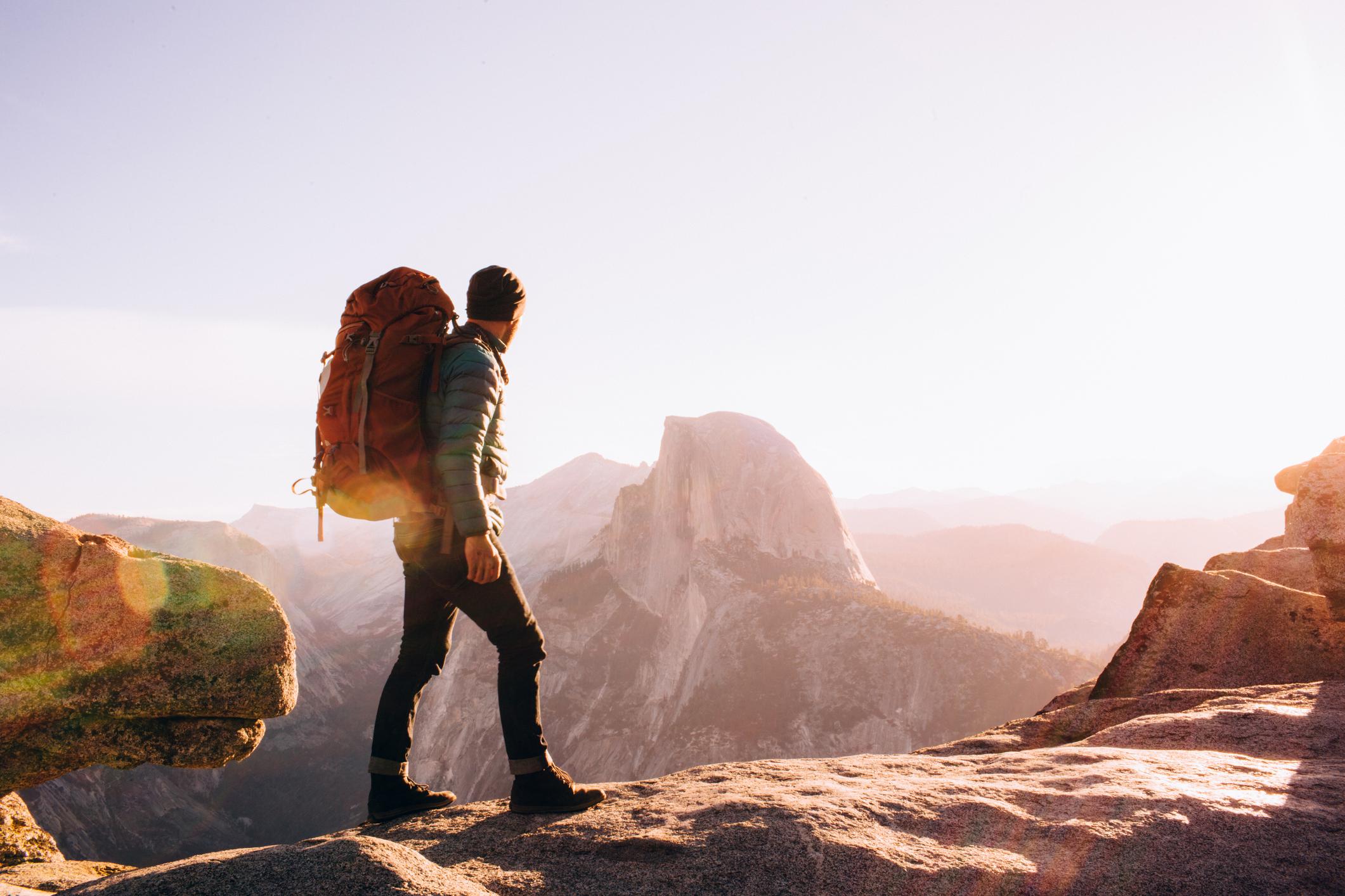 Hiker at Yosemite.