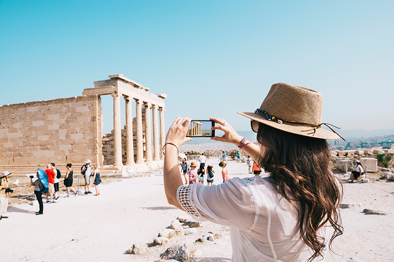 Taking a photo of the Acropolis