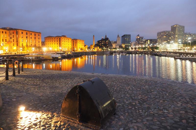 Liverpool city at night, United Kingdom