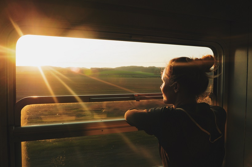 solo travel on a train