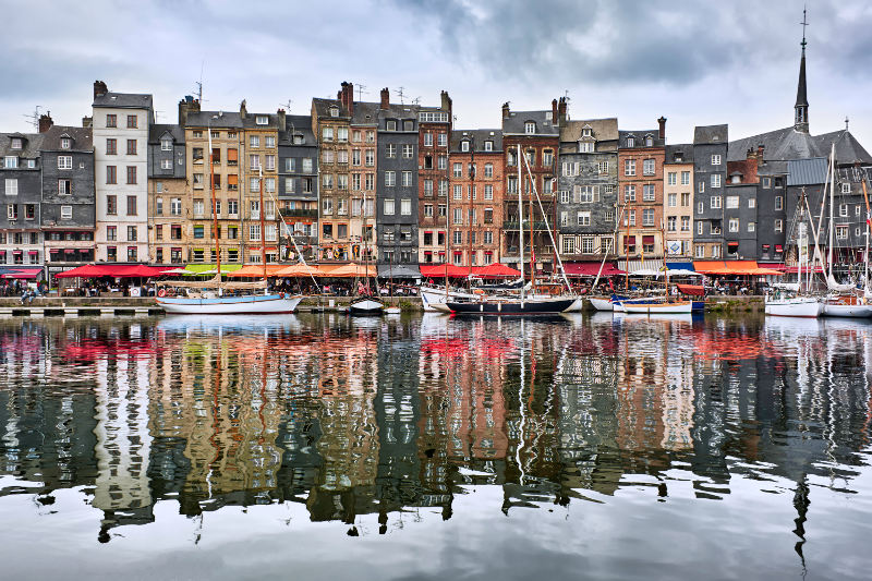 The old harbour in Honfleur, France.