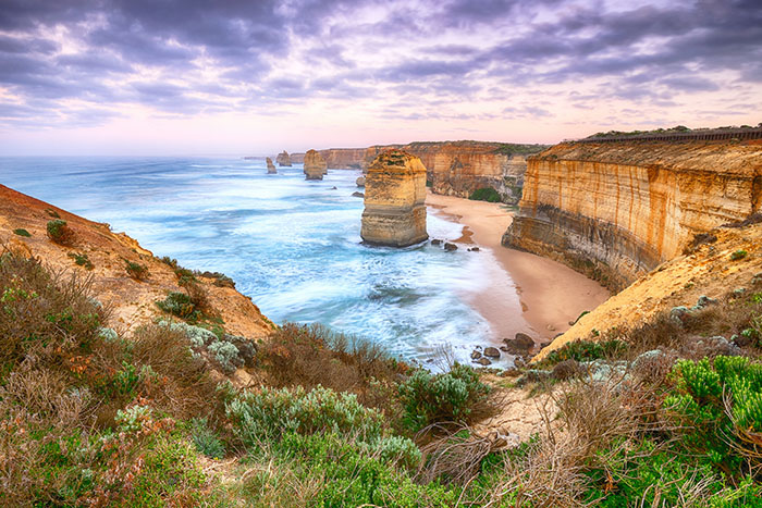 twelve apostles are an iconic stop on the great ocean road in victoria