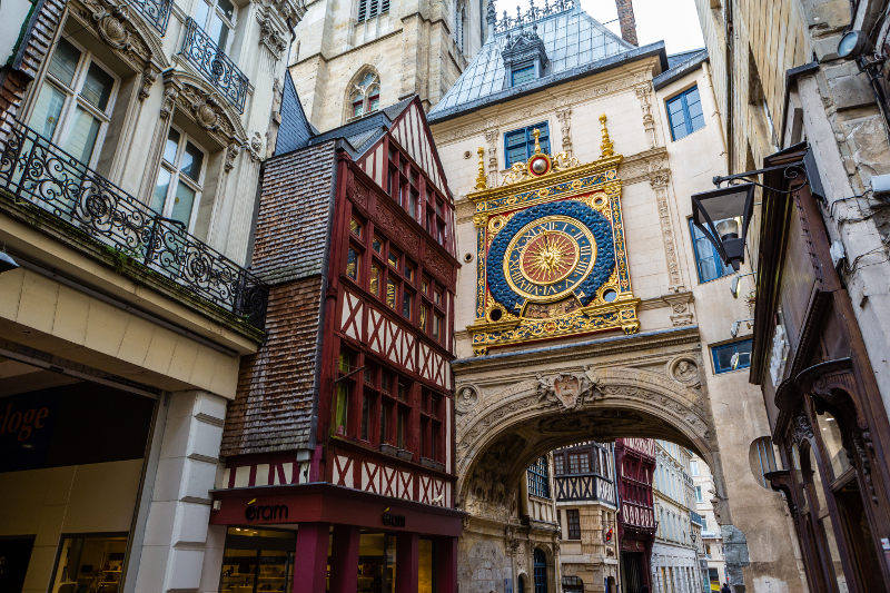The Gros Horloge, clock, Rouen, France