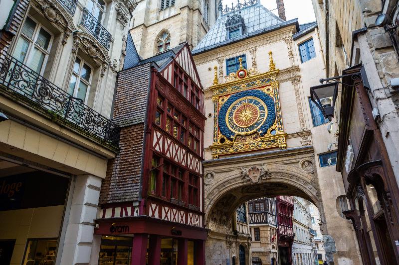 The Gros Horloge, clock, Rouen, France