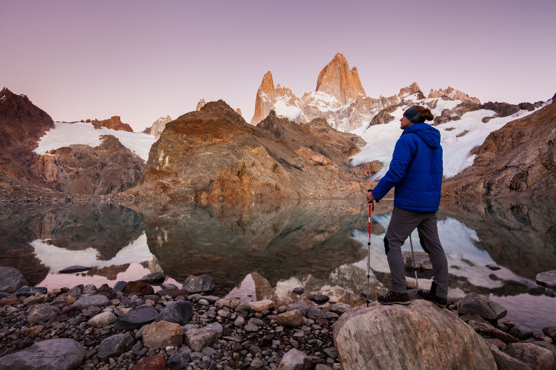 The hike to Mount Fitz Roy is challenging, but with a view like this, definitely worth every step!