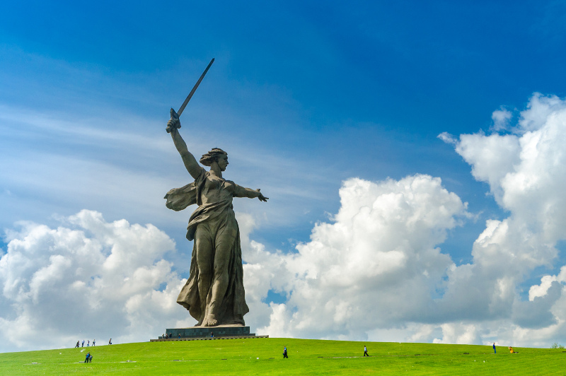 Motherland monument in Volgograd, Russia.