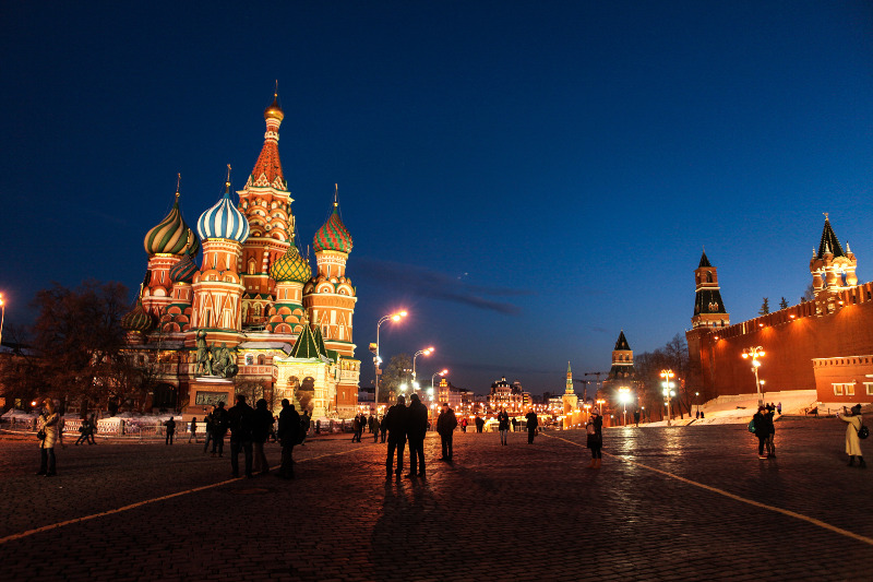 Moscow's iconic church: St Basil's Cathedral in Red Square. Russia