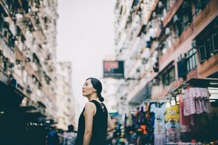 woman on hong kong street