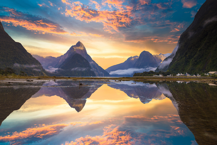 Mitre Peak in Milford Sound - close to home cruises to do in 2019